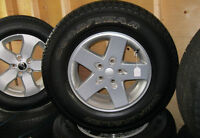 """Jeep Wrangler 17"""" Alloy Rim & Tire Package"""