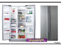 Fridge Freezer * Side by Side * Ultra Quiet * Pewter Finish * Perfect Condition * Energy Efficient *