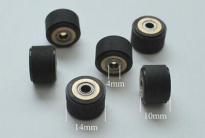 7pcs 4x10x14mm Silica Gel Pinch Roller Wheel For Mimaki Vinyl Cutte Plotter