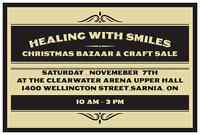 HEALING WITH SMILES CHRISTMAS BAZAAR & CRAFT SALE