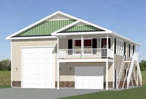 36x40 apartment with 1 car 1 rv garage 901 sq ft pdf floor for Garage apartment plans ebay