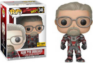 Funko Pop! Marvel #346 Ant-Man & The Wasp Hank Pym Unmasked Excl