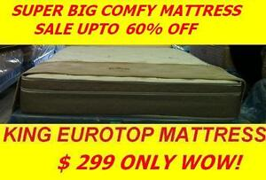 BRAND NEW LUXURY KING EURO TOP SUPER COMFY SALE ONLY $299 WOW