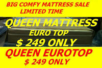 BRAND NEW QUEEN EUROTOP MATTRESS $249,TWIN,DOUBLE AVAILABLE