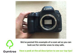 Canon 5d mark iii (body only) -- Read the ad description before replying!!