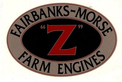 Fairbanks Morse Z Farmengine Decal 3 78 X 2 12 Gas Motor Flywheel Antique