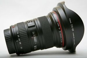Canon EF 16-35mm f/2.8 II USM Lens with caps and hood /pola