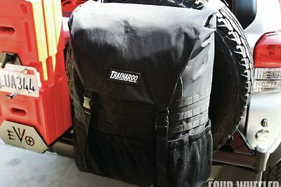 TRASHAROO Off-Road Canvas Bag, BLACK - Gen 2, Easily Attaches to Spare Tire