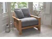Futon Company Solid Oak Vienna single armchair sofa bed