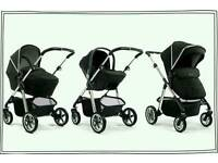 Black silvercross pioneer travel system pram
