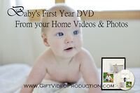 Baby photos & videos on professionally edited DVD