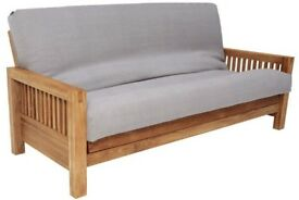 FUTON COMPANY THREE SEATER FUTON ZIP COVER OATMEAL NATURAL RRP £130