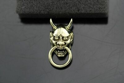 Handmade 般若 Evil Oni Noh Hannya BUDDHIST Mask Wallet Chain Connector](Oni Mask)