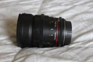 Rokinon 24mm and 85mm T1.5 Cine DS Lens Ef-mount
