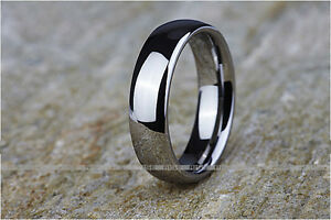 New In Box! Men's Rise Tungsten 6mm Ring Sz 9-14