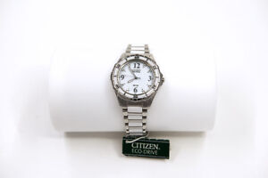 Citizen Ladies Eco-Drive Watch White Ceramic