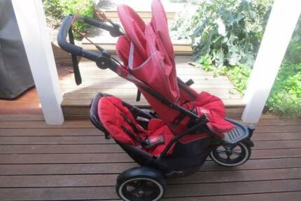 Rent/Hire Phil and Ted Double/Single Pram with Bassinet Feature