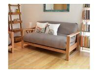 2 seater Birch Futon Company sofa bed
