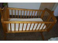 Swinging crib plus extra items