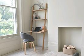 Futon company Oak Lean-To Desk. Solid Oak