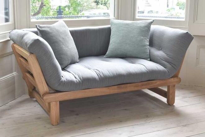 Great Solid Oak Day Bed Sofa Twingle Futon By Company