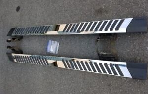 """FORD SUPERDUTY CREW CAB BRAND NEW 6"""" FACTORY STAINLESS STEP BARS"""