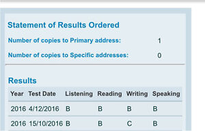 My Offical OET feedback report for writing only Elermore Vale Newcastle Area Preview