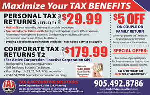 WHY PAY MORE THAN $30 FOR BASIC TAX RETURN - PICKERING / AJAX
