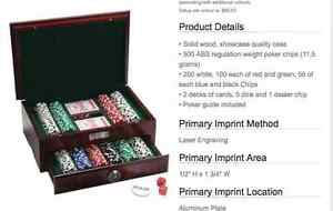 500 Piece Executive Poker Set- never used still in box!