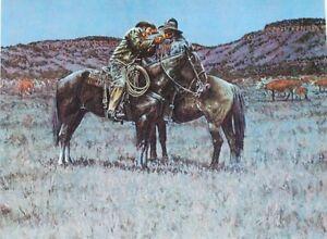 2 cowboys sharing a light night watching cattle Kenneth Wyatt