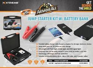 Armorall 3-in-1 Portable, Emergency Jump Start Kit with Power Bank and Flashlight