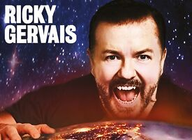 Ricky Gervais - The Humanity Tour - 11 October - London x4 Stall seated £250.00