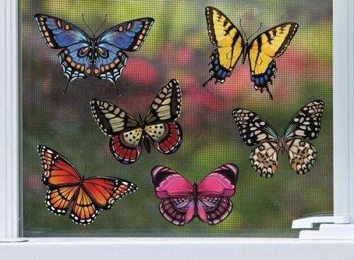 Evergreen Magnetic Screen Door Saver Assorted Butterfly Butterflies