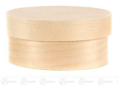 Spanschachtel oval BxHxT = 90x55x40mm NEU Erzgebirge Spandose Holzschachtel
