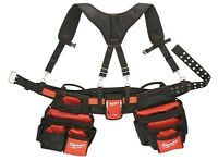 Milwaukee tool belt with suspenders