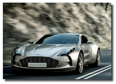 Aston Martin One 77 New Original Sign Car Photo Poster on Rummage