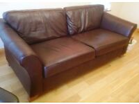 Large Leather Sofa and Armchair from M&S Abbey range