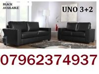 LEATHER SOFA SET 3+2 AS IN PIC black or brown