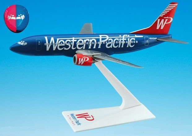 WESTERN PACIFIC AIRLINES SPLIT RED - BLUE LIVERY  Boeing 737-300   DESK MODEL