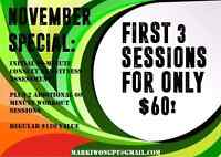 Get your first 3 Personal Training Sessions for ONLY $60!