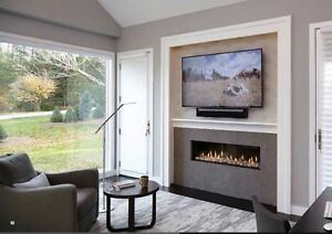 "Linear 55"" Direct vent  Gas fireplaces"