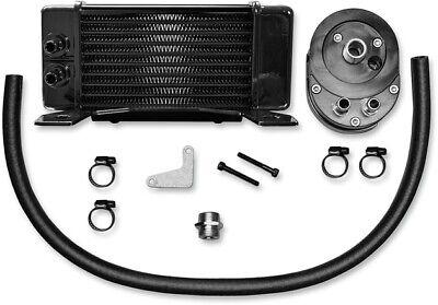 Jagg Lowmount 10-Row Oil Cooler System Black #750-2300 Harley Davidson