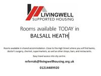 Rooms Available TODAY in BALSALL HEATH