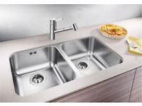 BLANCO SUPRA 340/340-U Double Stainless Steel Undermount Sink 2 Bowl BL453599 (934)