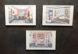3 beautifully framed Helen Downing Hunter Prints