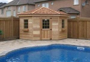 Cabanas and Change Houses - In Stock or Custom Order
