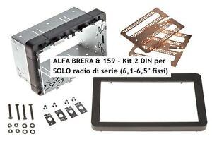 Mascherina-kit-autoradio-Doppio-2-DIN-Alfa-159-e-Brera-dal-2005-con-autoradio