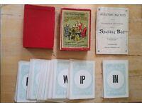 Vintage Spelling Bee Card Game by Glevum Games