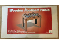 Wooden Table Football Table - NEW condition