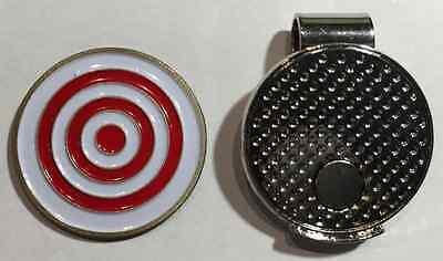 Premium Bullseye Golf Ball Marker with Magnetic Hat Clip